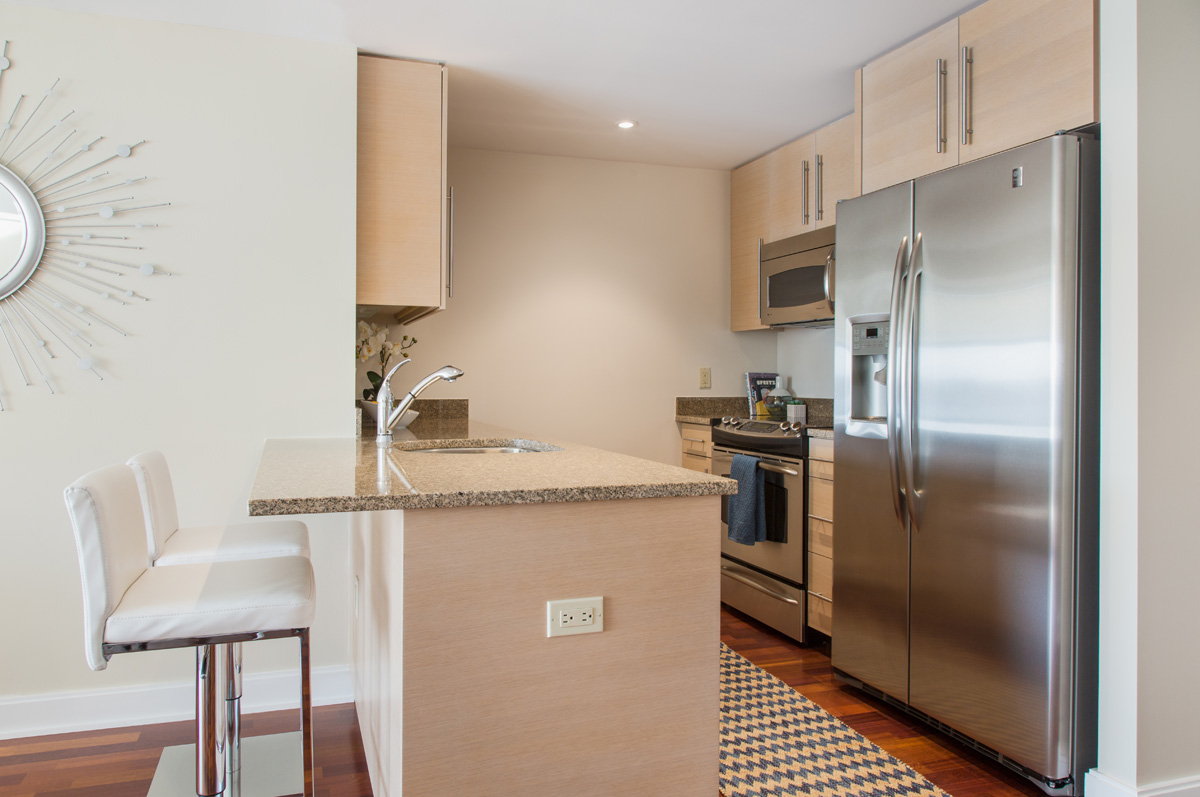 Harbor View At The Navy Yard - Fully Equipped Kitchen with Granite Counters