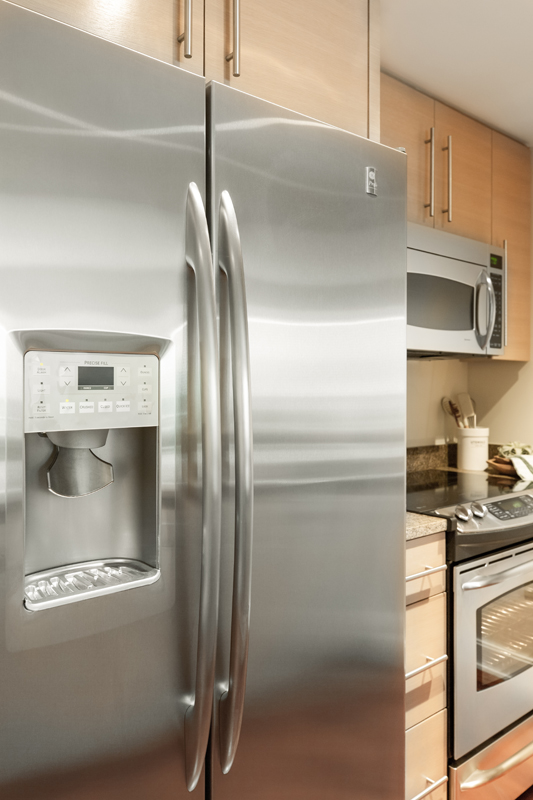 Harbor View At The Navy Yard - Stainless Steel Kitchen Appliances